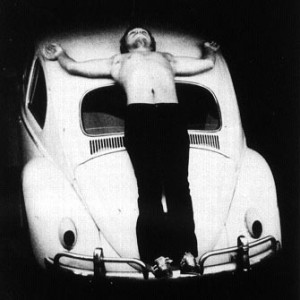 Chris Burden, Trans-Fixed, 1974.