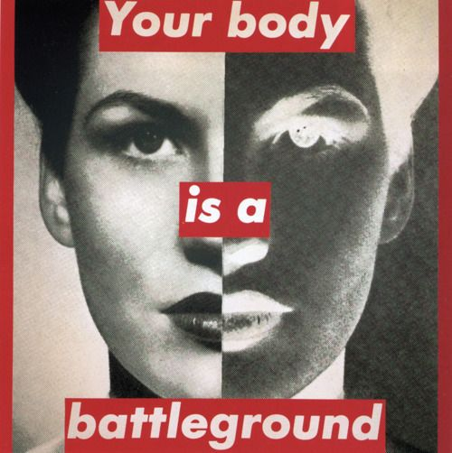 """Untitled (Your Body is a Battleground),"" 1989."