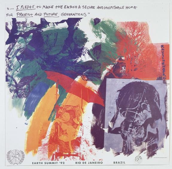 Robert Rauschenberg, Last Turn—Your Turn [print for Earth Summit '92 the United Nations Conference on Environment and Development, Rio de Janeiro, Brazil] 1991