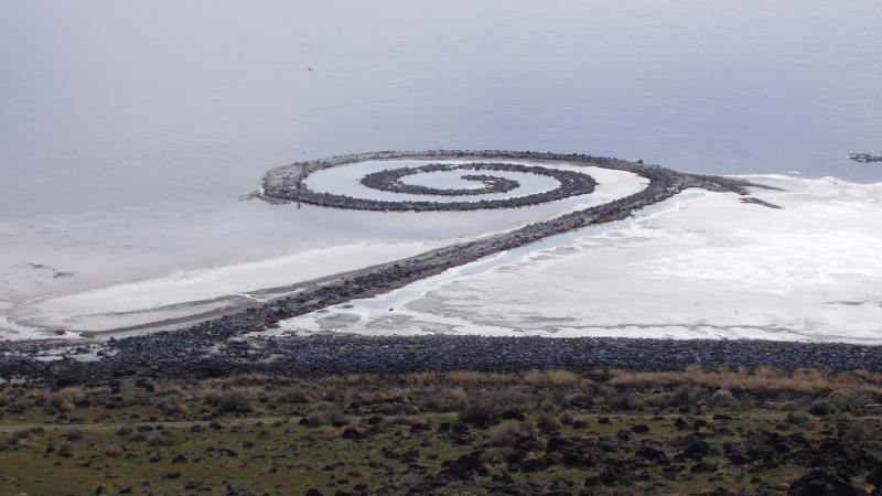 Robert Smithson, Spiral Jetty, 1970. As seen from above.