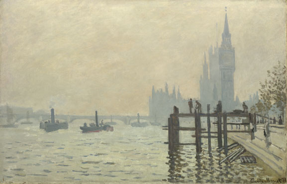 Claude Monet, The Thames below Westminster, 1871.