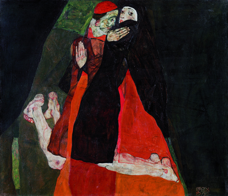 Cardinal and Nun (Caress), 1912, Egon Schiele.