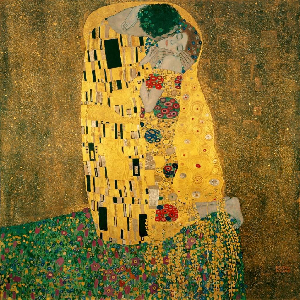 The Kiss (Lovers), 1907-1908, Gustav Klimt.