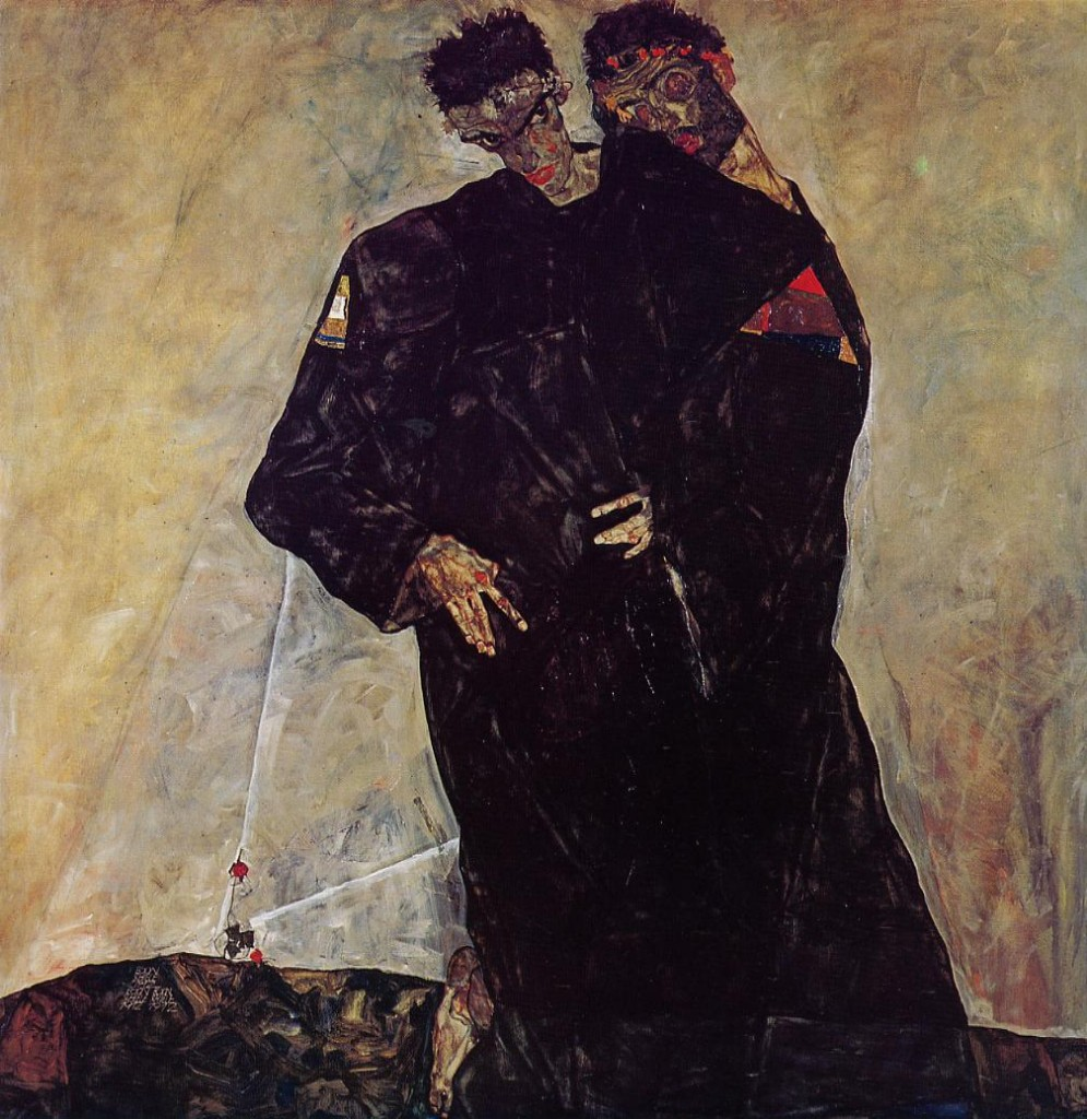 The Hermits,  Egon Schiele, 1912.