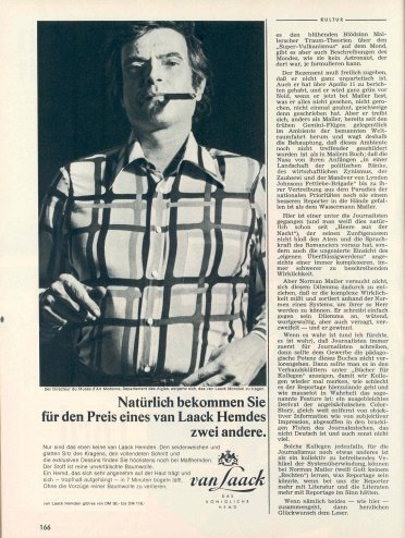 Marcel Broodthaers for van Laack, 1971.
