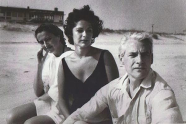 Left to Right: Jane Freilicher, Ruth Kligman, Willem de Kooning.