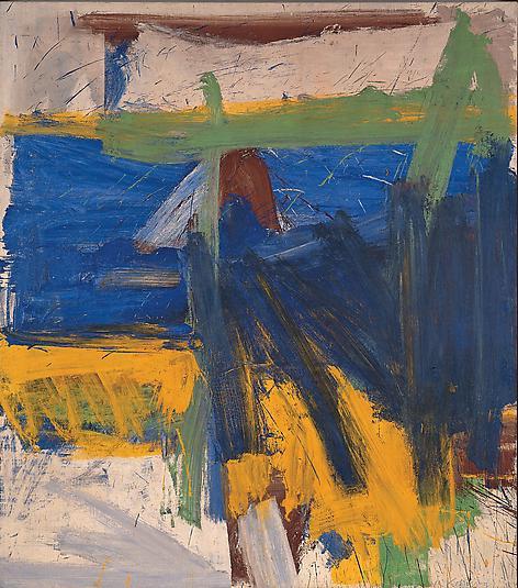 """Ruth's Zowie,"" Willem de Kooning, 1957. Image via the Willem de Kooning Foundation."