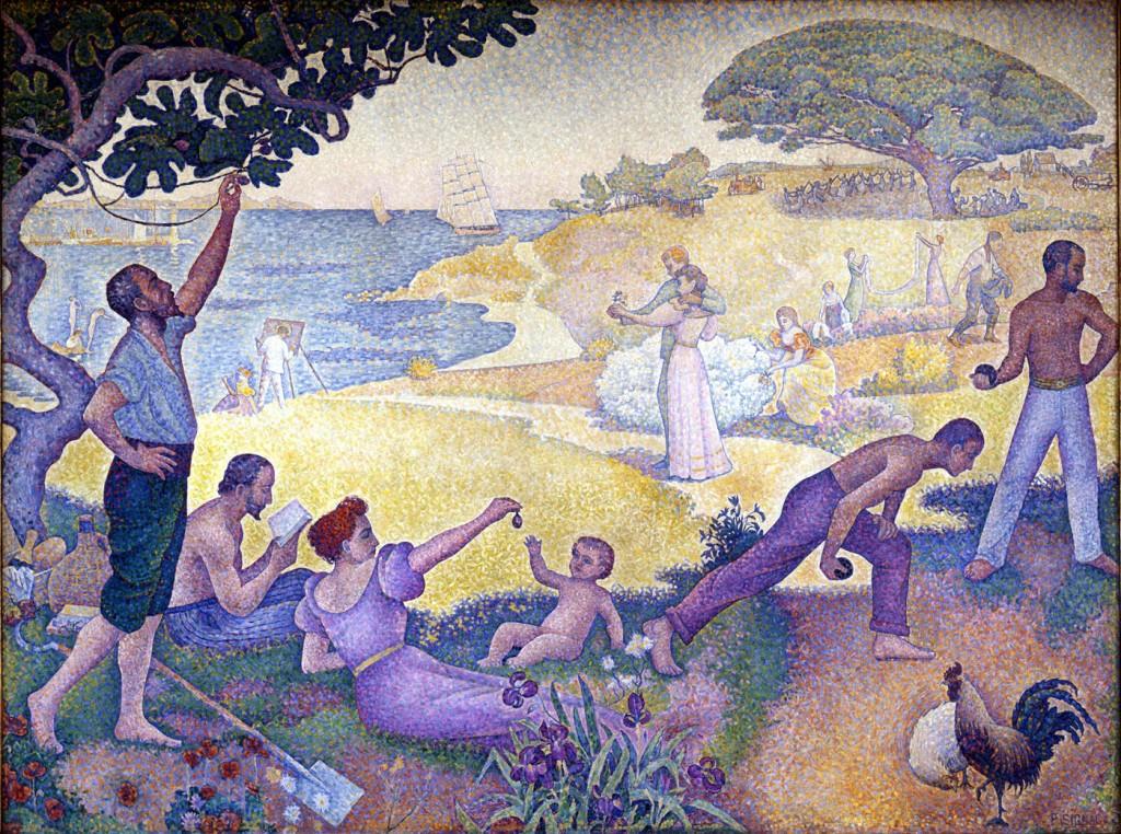 Au Temps d'Harmonie (La Joie de Vivre - Dimanche au Bord de la Mer), Paul Signac, 1895-96