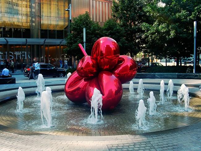 jeff koons balloon flower