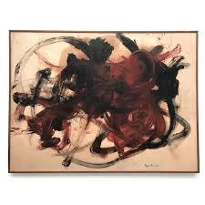 Kazuo Shiraga \ Torimono, 1958 (oil on paper mounted on canvas)
