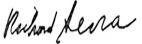 Richard Serra Signature