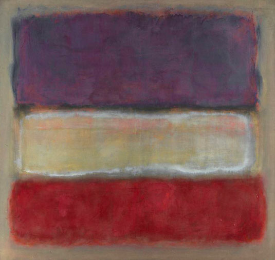 Untitled (Purple, White and Red)