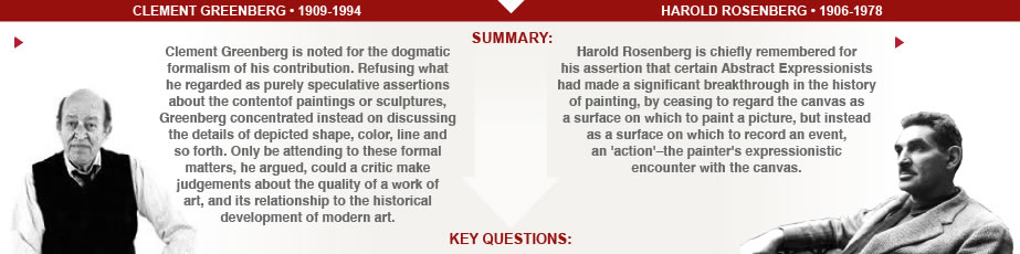 the art story clement greenberg vs harold rosenberg art critics comparison clement greenberg vs harold rosenberg