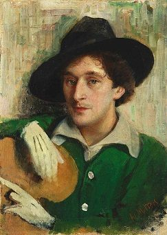 Portrait of Marc Chagall by Yehuda Pen (c. 1915)
