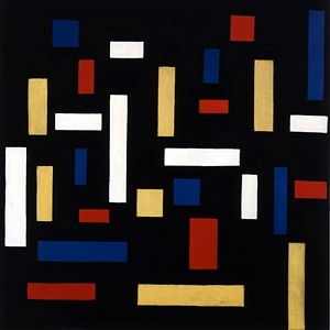 <i>Neo-Plasticism: Composition VII (the three graces)</i> (1917) - an early work by van Doesburg