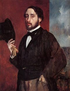 Degas Self-portrait (1857-1858)