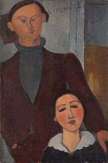 Jacques and Berthe Lipchitz portrait by Amedeo Modigliani