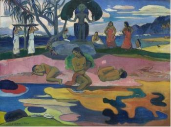 Paul Gauguin's <i>Mahana no atua (Day of the God)</i> (1894) shows the legendary artists leading the way to future movements such as Expressionism and Primitivism