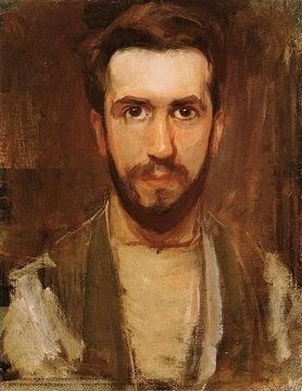 Piet Mondrian early self-portrait (c.1900)