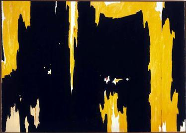 An early pioneer of Abstract Expressionism, Clyfford Still's works, as shown in <i>1957-D No. 1</i> (1957), also informed the development of Color Field Painting