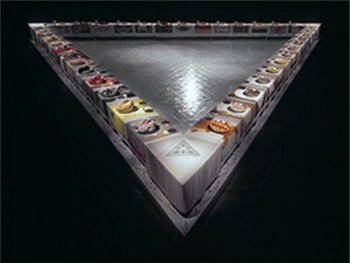 Judy Chicago's <i>The Dinner Party</i> (1974-79) combines installation, craft, and feminist ideas to create an arresting and controversial work.