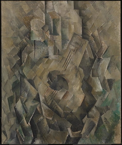 Georges Braque's <i>Mandora</i> (1909-10) is an early example of Analytic Cubism.