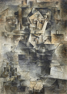 Pablo Picasso's <i>Portrait of Daniel-Henry Kahnweiler</i> (1910). The artists homage to his early benefactor.