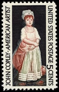 The 5 cents John Singleton Copley stamp Issued on 17 September 1965.