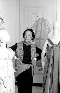 Lynn Gilbert's <i>Diana Vreeland</i> (1978) shows the fashion leader at Costume Institute at the Metropolitan Museum of Art, where she became their fashion consultant in 1971.