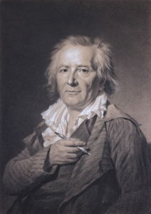 Jacques Antoine Marie Lemoine's Portait of Fragonard in Chalk