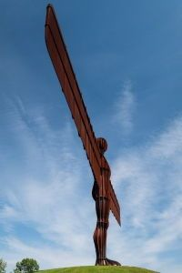 Gormley's <i>The Angel of the North</i> towers over the surrounding countryside and has become a significant focal point and symbol of the region for local residents and tourists alike.