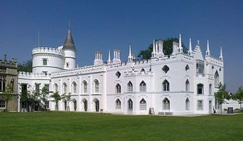 <i>Strawberry Hill House</i> near London was built by Horace Walpole, fourth Earl of Orford, in 1749, but which he continued to work on and enhance until his death almost 50 years later.