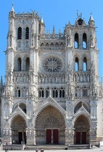 The façade of Amiens Cathedral (1220-1269) in France, exemplifies the High Gothic style. Amiens, the tallest church in France, also has the greatest interior volume.