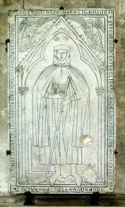 The tombstone of Hugues Libergier depicted him holding a model of St. Nicaise, which he designed, with architectural tools at his feet.