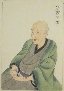<i>Portrait of Hokusai</i> by Keisai Eisen (date unknown)