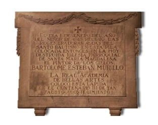 Memorial to Bartolomé Murillo, Church of Santa María Magdalena, Seville