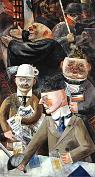 George Grosz's Pillars of Society (1926) is a stinging critique of German elites who were supporting fascism