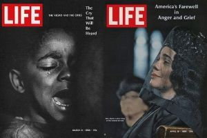 "<i>Life</i> Magazine covers featuring Parks' work, including ""The Cry That Will Be Heard"" (March 1968) and ""America's Farewell in Anger and Grief"" (April 1968)"