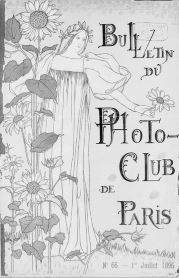 This cover of the Bulletin du Photo-Club de Paris, designed by Edme Couty, July 1896.