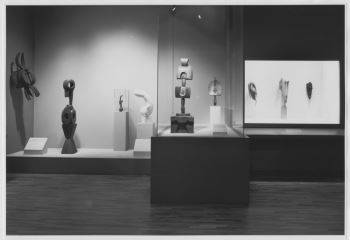 Installation photograph of the exhibition <i>Primitivism in 20<sup>th</sup> Century Art: Affinity of the Tribal and the Modern</i> (1984)