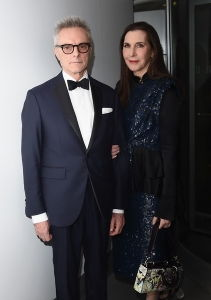 Simmons and husband Carroll Dunham at the 2016 Guggenheim International Gala