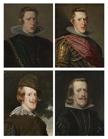 Velázquez's Philip IV portraits throughout their years together