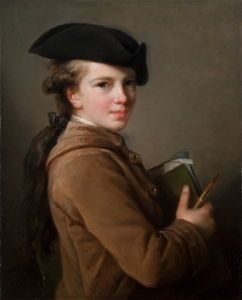 <i>Étienne Vigée</i> (1774) is the artist's brother who was the subject of one of Le Brun's earliest portraits that she used to advertise her talent. Saint Louis Art Museum