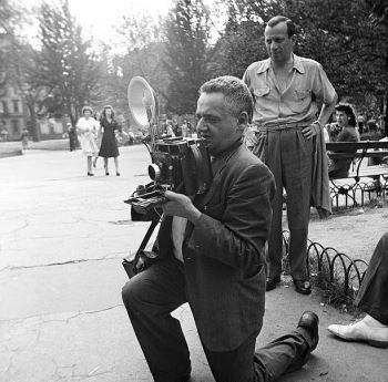 Weegee in Washington Square Park