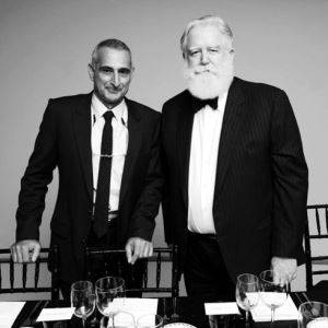 Christopher Wool and James Turrell at the Guggenheim International Gala (2013)
