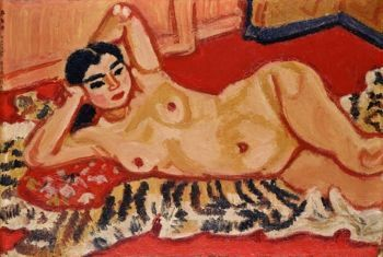 Works like Umehara Ryûzaburô's <i>Reclining Nude</i> (1932) made Fauvism and the nude noted elements of Japanese painting.