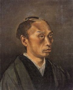 Takahashi Yuichi's <i>Self-Portrait with Topknot</i> (1866-1867) dates from the time the artist was studying Western style painting with Charles Wirgman.