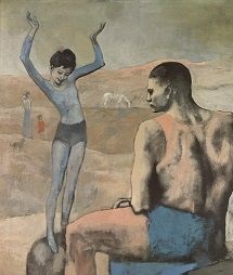 Pablo Picasso Rose Period painting - <i>Acrobate à la Boule</i> (Acrobat on a Ball) (1905)