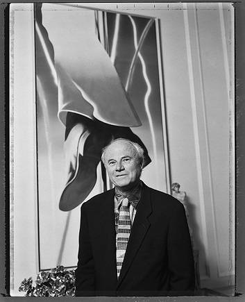 James Rosenquist photographed in the apartment of Barbara Lane (1993)