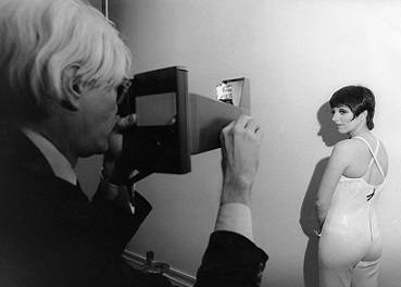 Andy Warhol photographs Liza Minnelli, (mid 1970's)